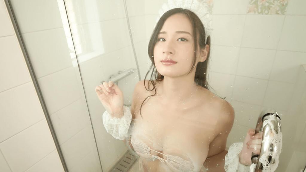 シャワールームで巨乳を押しつける清瀬汐希